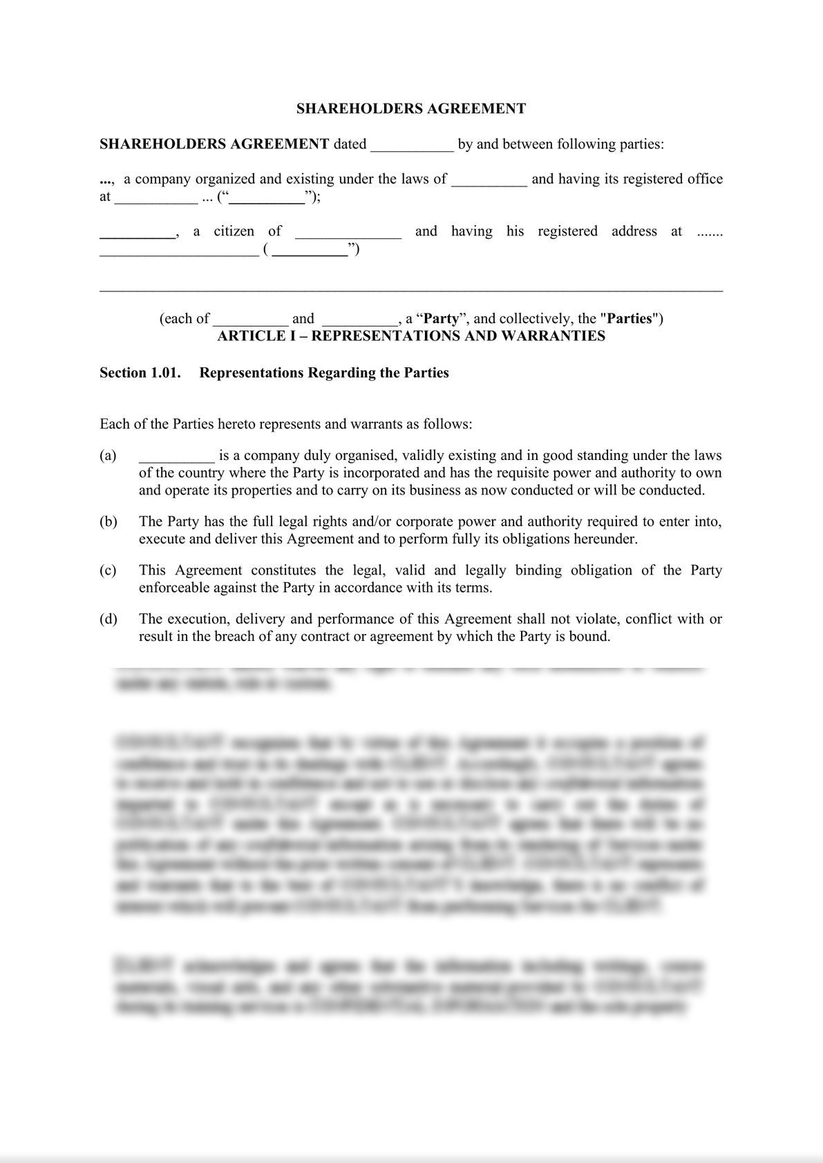 Shareholders agreement-1