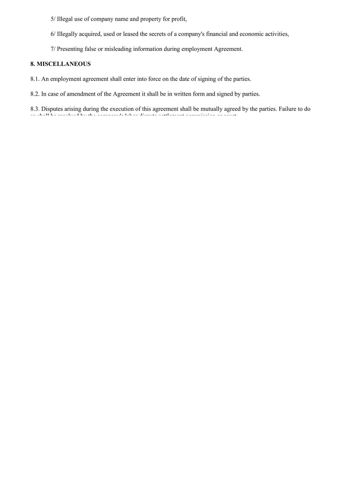 Standard Employment Contract-2