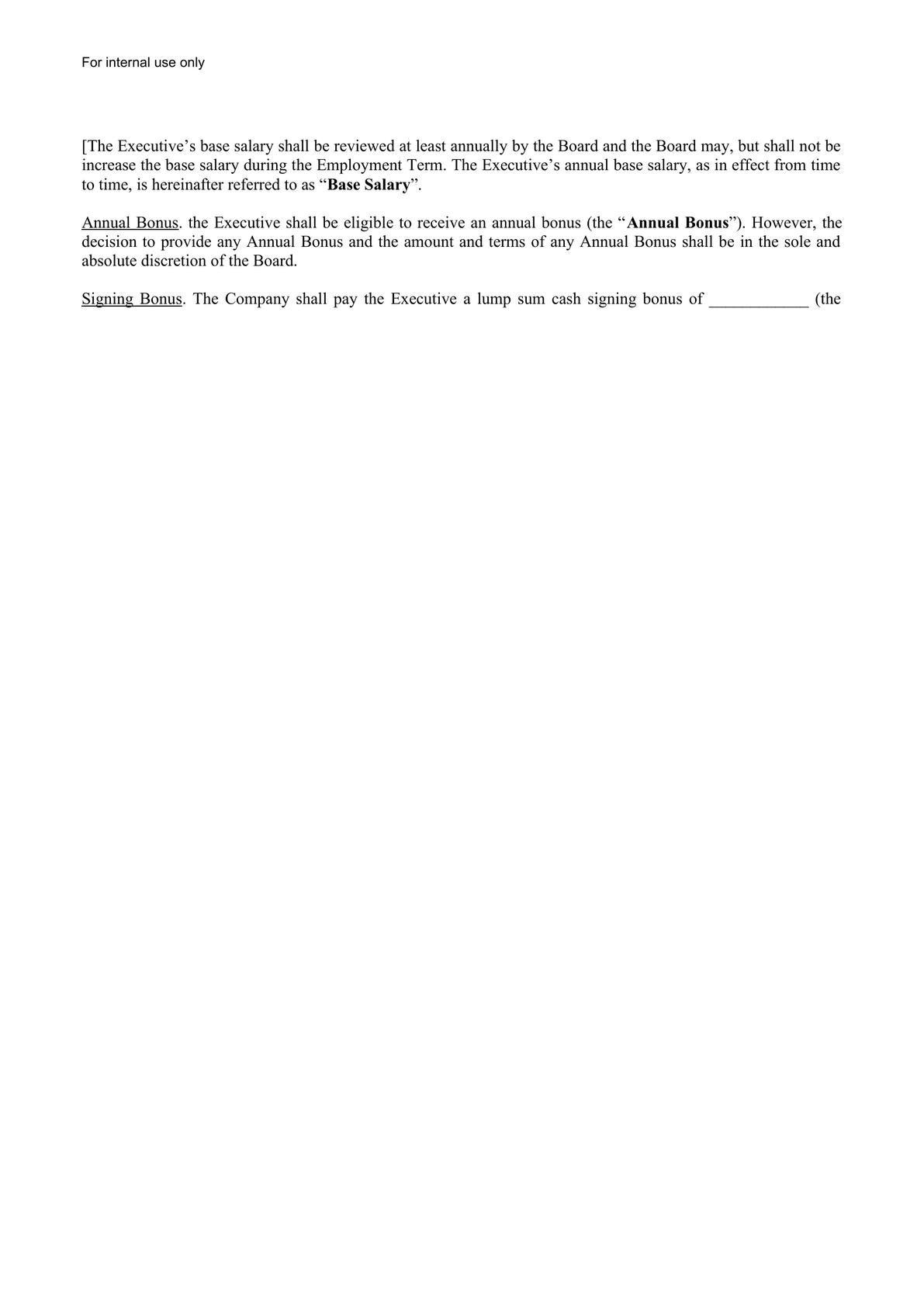 CEO Employment Agreement-1