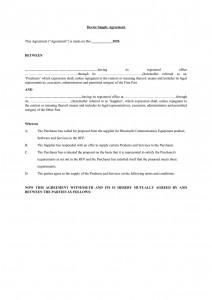 Device Supply Contract (Premium Quality)