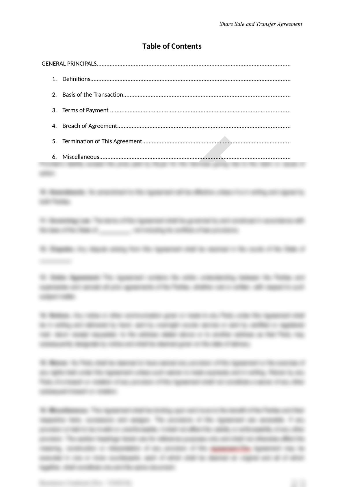 Share Sale and Purchase Agreement in Mongolia-1