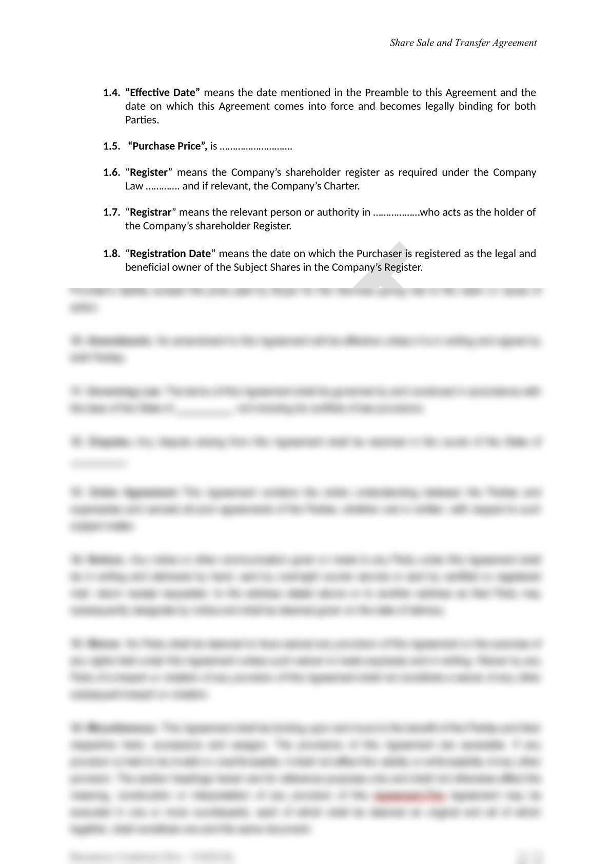 Share Sale and Purchase Agreement in Mongolia-3