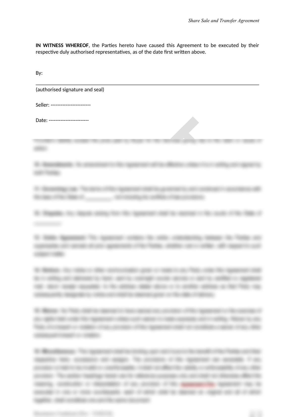 Share Sale and Purchase Agreement in Mongolia-6
