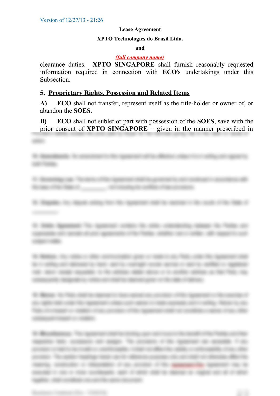 Subsea equipment lease agreement-3