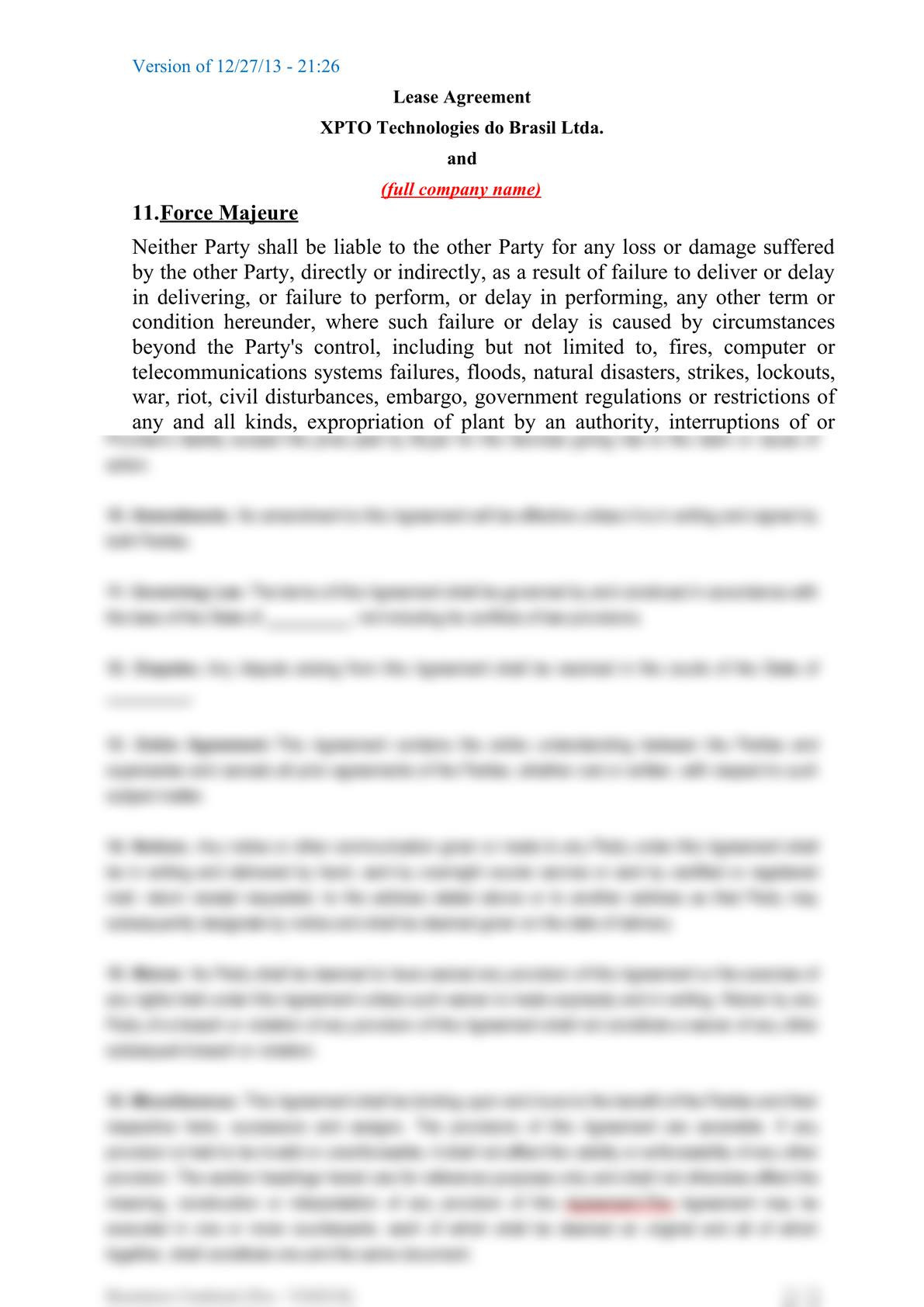Subsea equipment lease agreement-8