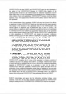 Memorandum of Agreement - Broker's Compensation and Profit-Sharing Scheme