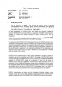 Video Production Agreement