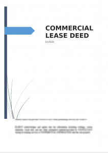 Commercial Lease Deed