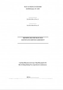 Maintenance Service Agreement