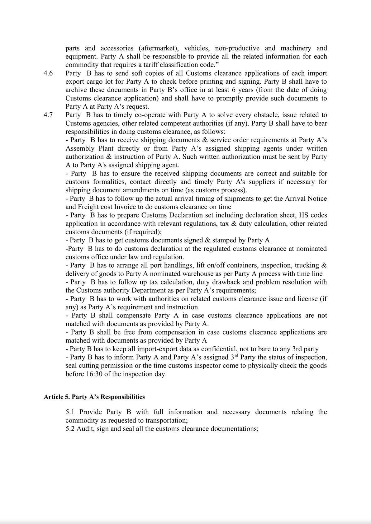 Customs Broker Service Contract-2