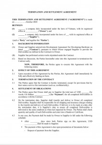 Termination and Settlement Agreement