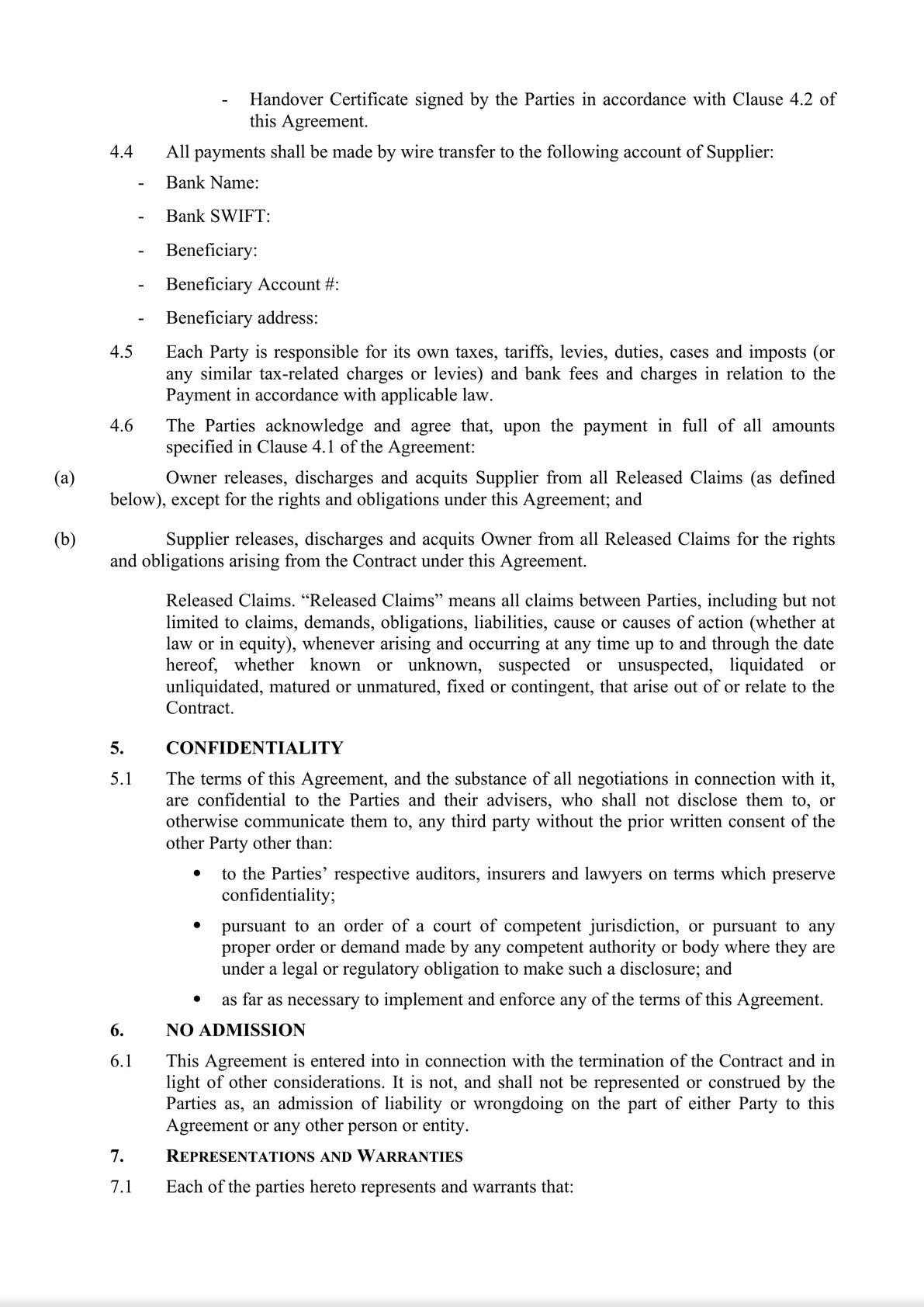 Termination and Settlement Agreement-1