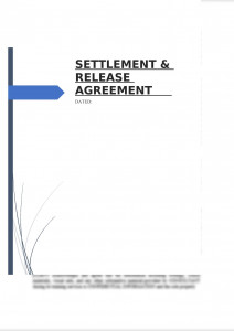 Settlement & Release Agreement