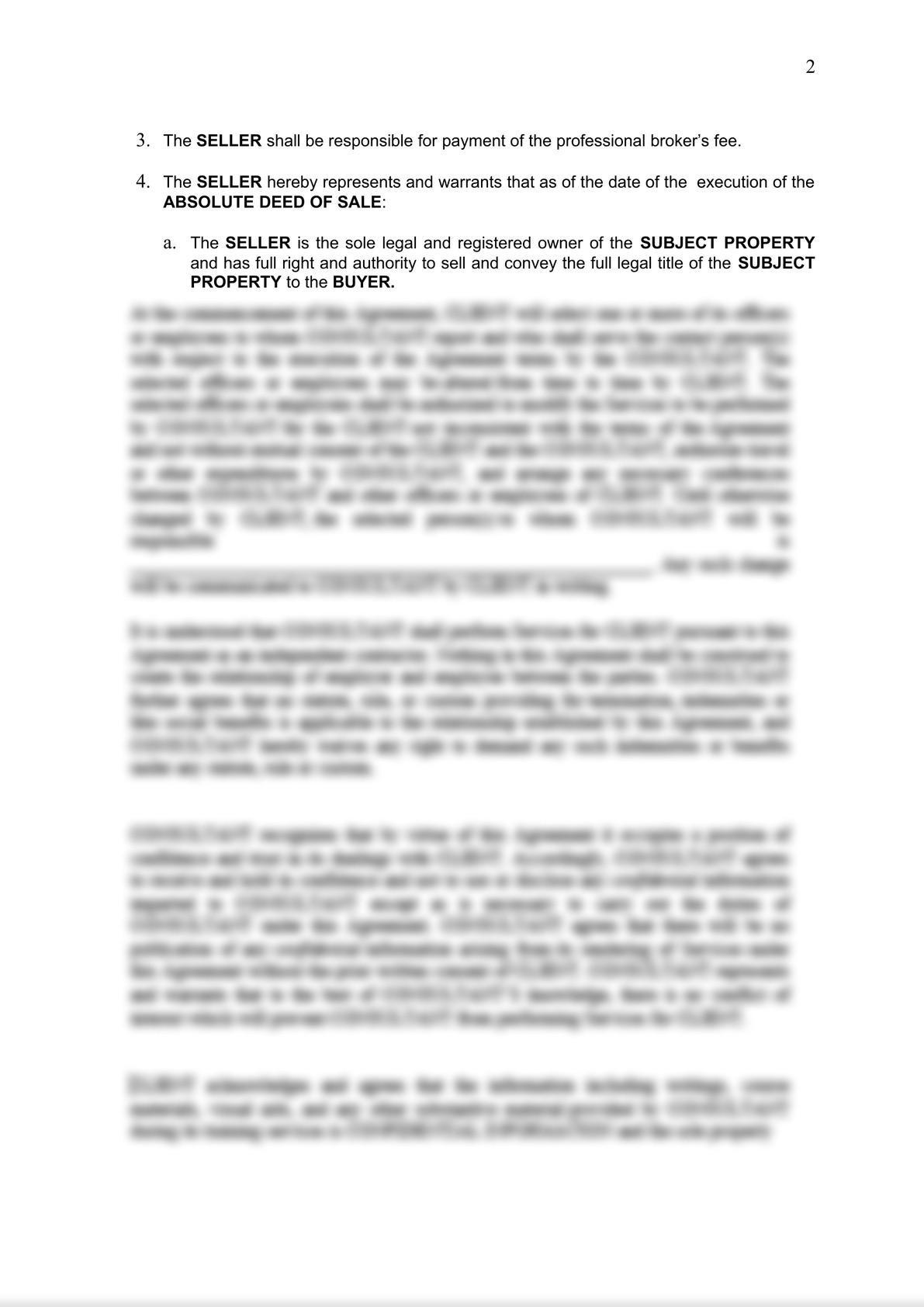 Contract to Sell - Condominium Unit-1