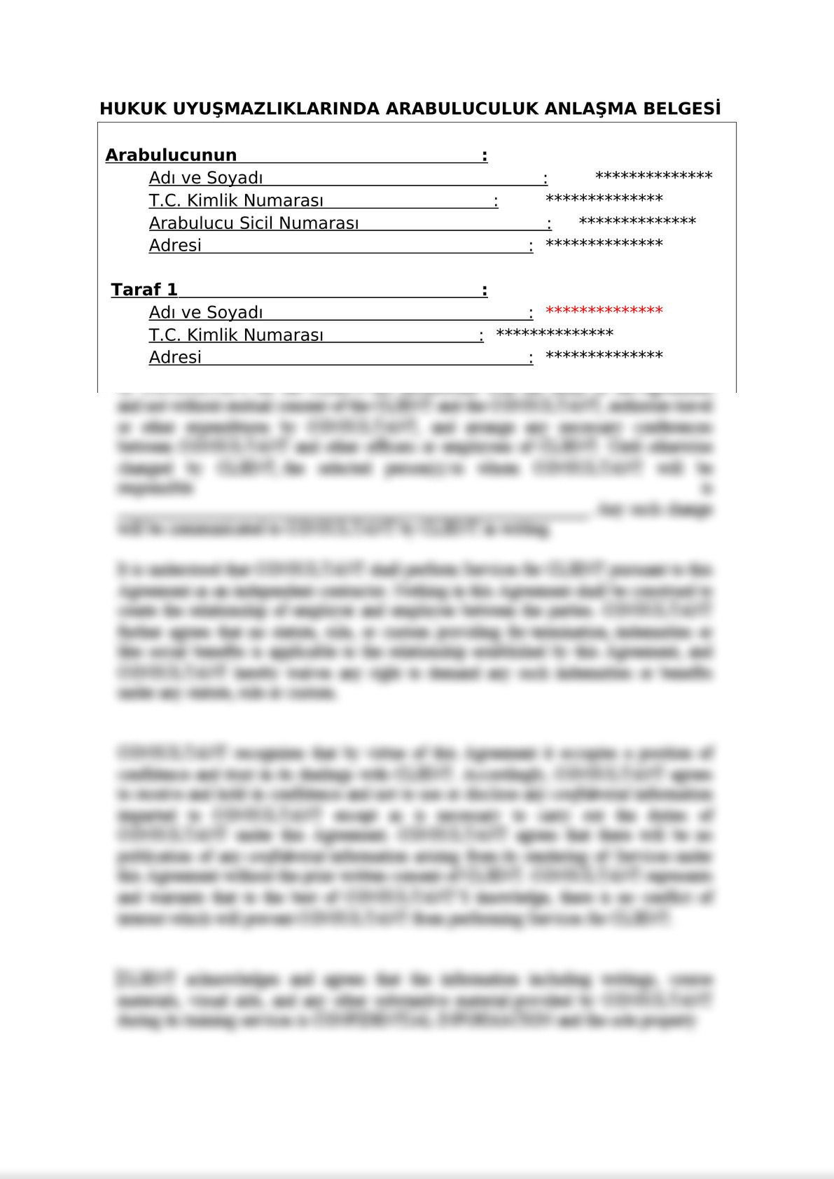 Mediation Settlement Agreement  on Commercial Disputes - Turkish-0