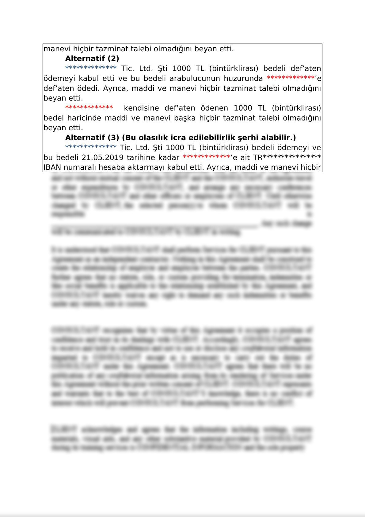 Mediation Settlement Agreement  on Commercial Disputes - Turkish-1