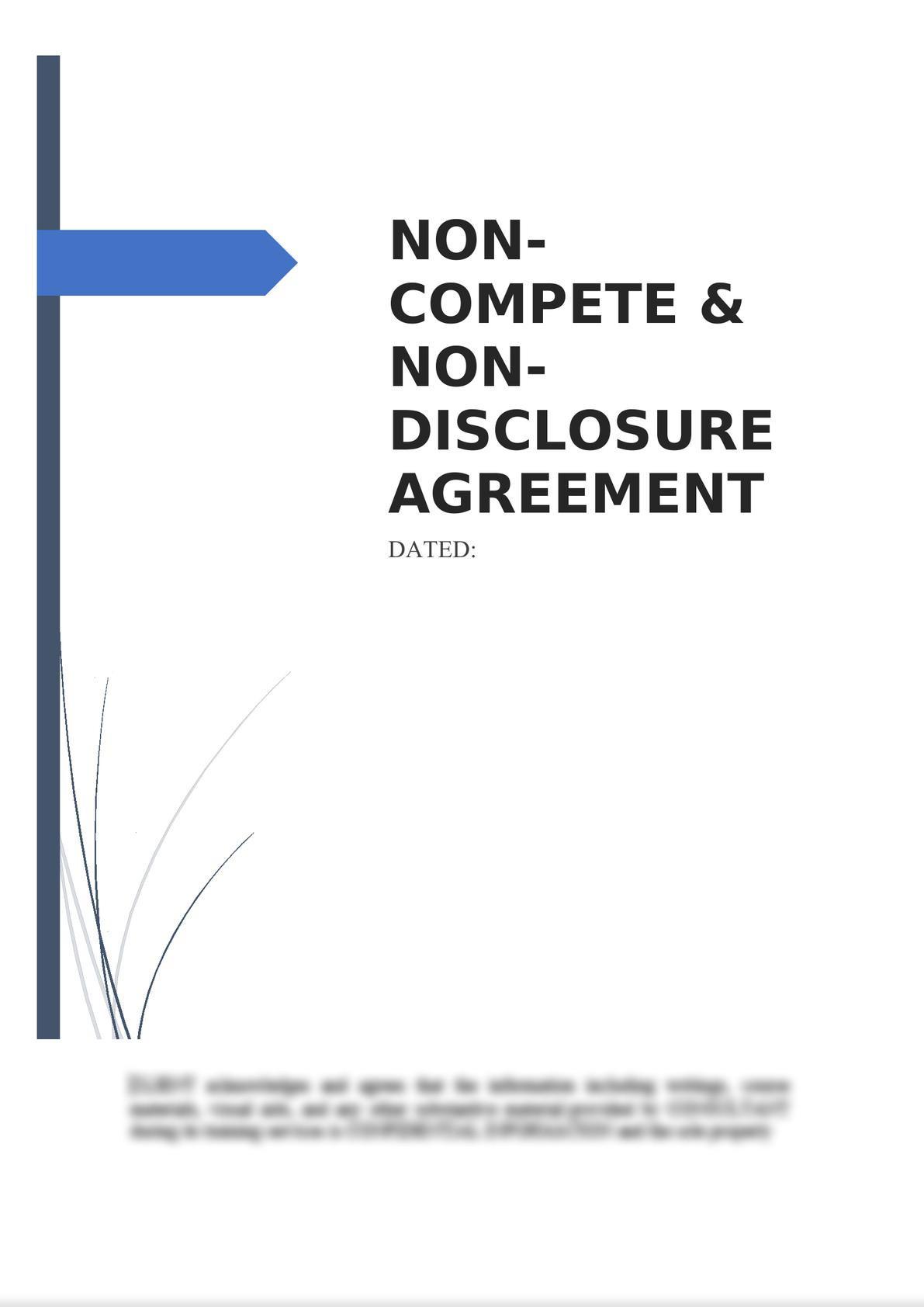Non-Compete & Non-Disclosure Agreement-0