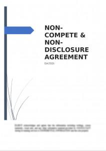 Non-Compete & Non-Disclosure Agreement