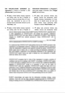 bilingual and mutual non disclosure agreement