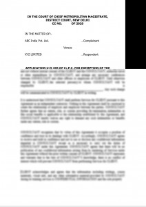 APPLICATION EXEMPTION FROM THE PERSONAL APPEARANCE BEFORE COURT